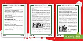 first world war the christmas truce differentiated reading