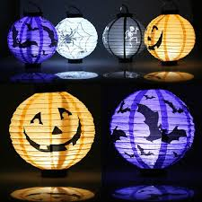 1 pcs halloween decorations led light up holiday paper lanterns