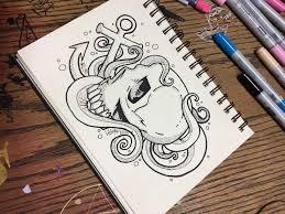 nautical skull idea by therandomthings on deviantart