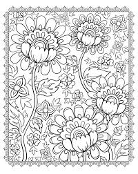 magnificient flowers flowers vegetation coloring pages