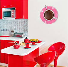 Horloge Cuisine Rouge by De Cuisine Originale