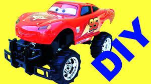 lightning mcqueen monster truck videos diy lightning mcqueen cars 2 monster truck rc vehicles how to