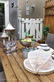 How To Set A Dining Room Table How To Set A Casual Outdoor Table French Vintage Style So Much