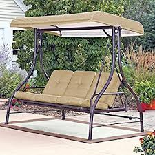Swings For Patios With Canopy Amazon Com Abba Patio 3 Seat Outdoor Canopy Porch Swing Hammock