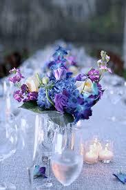 decorations blue and purple flower arrangements best purple