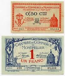 chambre du commerce montpellier montpellier chambre de commerce 0 50 cts et 1 franc 1915 et 1919 ebay