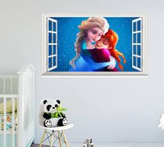 frozen anna drawing cartoon elsa cold heart disney window wall frozen anna drawing cartoon elsa cold heart disney window wall sticker art decal idcch ct