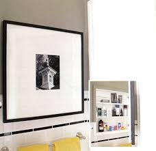 picture frame medicine cabinet look picture frame medicine cabinet apartment therapy