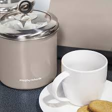 morphy richards accents large storage canister with glass lid