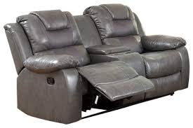Loveseats Recliners Leather Match Motion Sofa Love Seat Recliners With Storage Cup