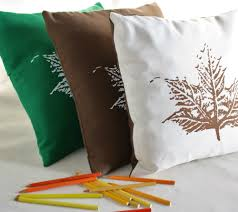 Chocolate Cushion Covers Cushion Covers Autumn Leaves Design Screen Printed On Luulla