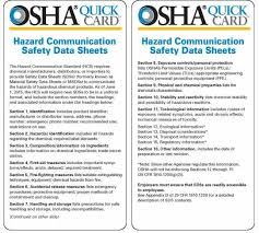 Ghs Safety Data Sheet Template Hazard Communication Standard Environment Health And Safety
