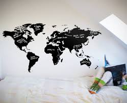 world map chalkboard your decal shop nz designer wall art world map chalkboard