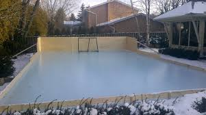 Hockey Rink In Backyard by Rink Liners And Backyard Skating Rink Tarps How To Install
