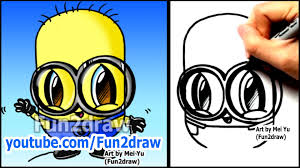 how to draw a minion from despicable me fun2draw style easy