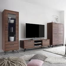 Wohnzimmerschrank Ohne Tv Fach Wohnwand Nussbaum Schwarz Preisvergleich U2022 Die Besten Angebote