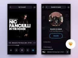 music player app sketch freebie designermill