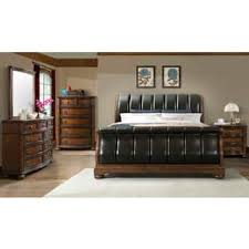 Leather Sleigh Bed Sleigh Bed Faux Leather Shop The Best Deals For Nov 2017