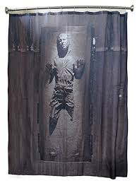 Star Wars Bathroom Accessories Amazon Com Han Solo In Carbonite Shower Curtain Home U0026 Kitchen