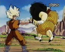 goku vs android 19 image goku vs android 19 jpg dragonballz wiki fandom powered