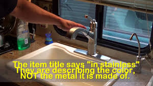 delta kitchen faucet models delta allentown faucet model 16935 sssd dst review youtube