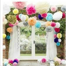 discount tissue paper pom poms wedding decoration paper flowers