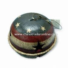 wholesale metal bell ornament for thanksgiving or american
