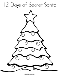 12 days of christmas coloring page 12 days of secret santa coloring page twisty noodle