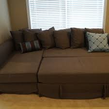 leather sofa bed ikea manstad sectional sofa bed storage from ikea apartment therapy with