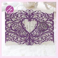 wedding invite sles 100 pcs laser cut tech purple lace wedding decoration invitation
