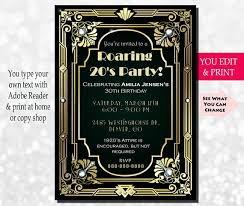 gatsby invitations 30th birthday invitation gatsby invitation gatsby birthday