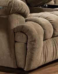 carrington reclining sofa w drop down table lights drawer