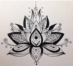 drawn tattoo lotus flower pencil and in color drawn tattoo lotus