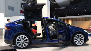 suv tesla tesla model x all electric luxury crossover suv car with remote