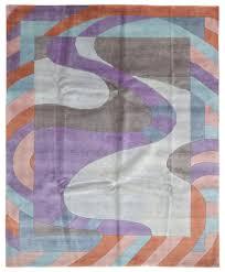 Lilac Rug Purple Orange And Blue Nepali Large Oriental Area Rug 8 U0027x9 U00279