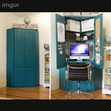 hidden computer workstation desk design ideas monitor blue hidden