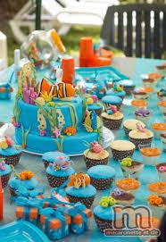 decoration cupcake anniversaire sweet table némo le gâteau némo et quelques pas à pas en pâte à