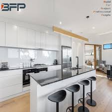white lacquer kitchen cabinets cost china european simple style free of handle white lacquer