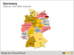 map of germany with states and capitals got business with germany get editable germany maps for ppt