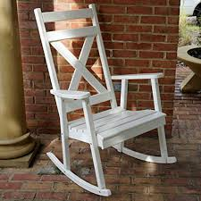 southern style white rocking chairs for the porch come sit a spell