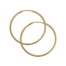 hoop earring endless hoop earring component with hinged wire 30mm diameter and