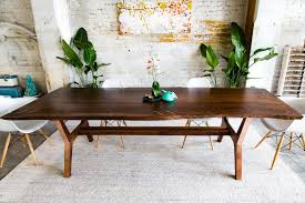 slab dining room table the april walnut live edge dining table copper slab