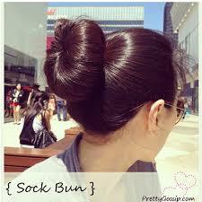 sock hair bun tutorial the sock bun pretty gossip