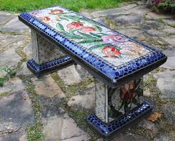 mosaic garden benches beads u0026 pieces community mosaic board by