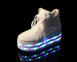 New Light Up Jordans Double Led Light Up Platform Sneakers Harajuku Fashion Shop