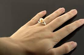 8mm ring sterling 6mm 7mm or 8mm pearl premium ring mounting