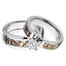 Wedding Ring Sets For Her by Inspirations Of Camo Wedding Ring Set For Him And Her