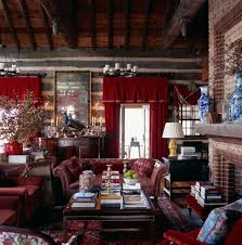 living room ideas with chesterfield sofa log cabin living rooms living room rustic with brick fireplace