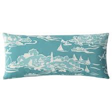 skylake toile outdoor lumbar pillow u2013 turquoise serena u0026 lily