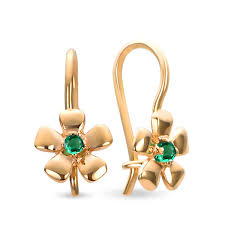gold earrings for babies buy emerald earrings for babies green eye kids jewelry
